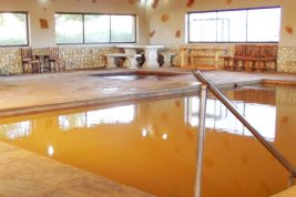 Natural hot spring bathing at Karoowater...