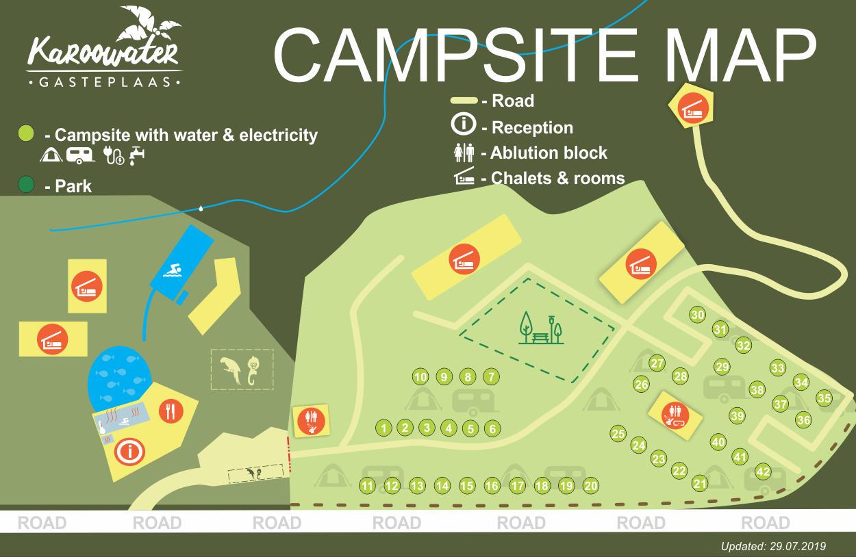 Caravan Park and camping at Karoowater Guestfarm, Oudtshoorn, Calitzdorp, Western Cape